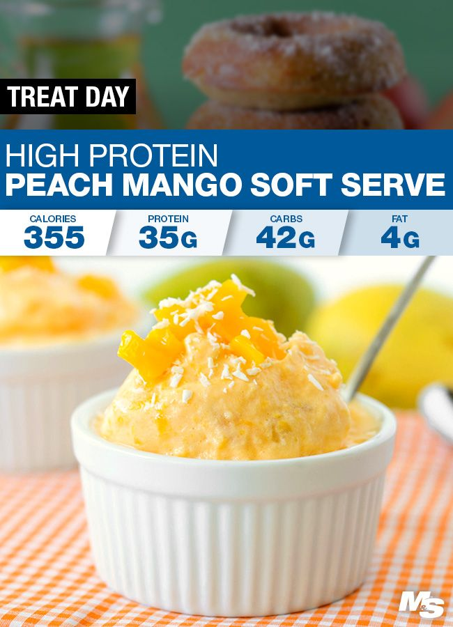 Photo of Peach Mango Protein Soft Serve