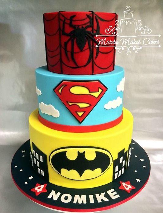 Superhero cake | Superhero Cakes | Pinterest | Batman kuchen, Torten ...