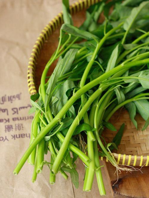 Water Spinach Gazun Ywet Water Spinach Asian Spices Leafy Vegetables