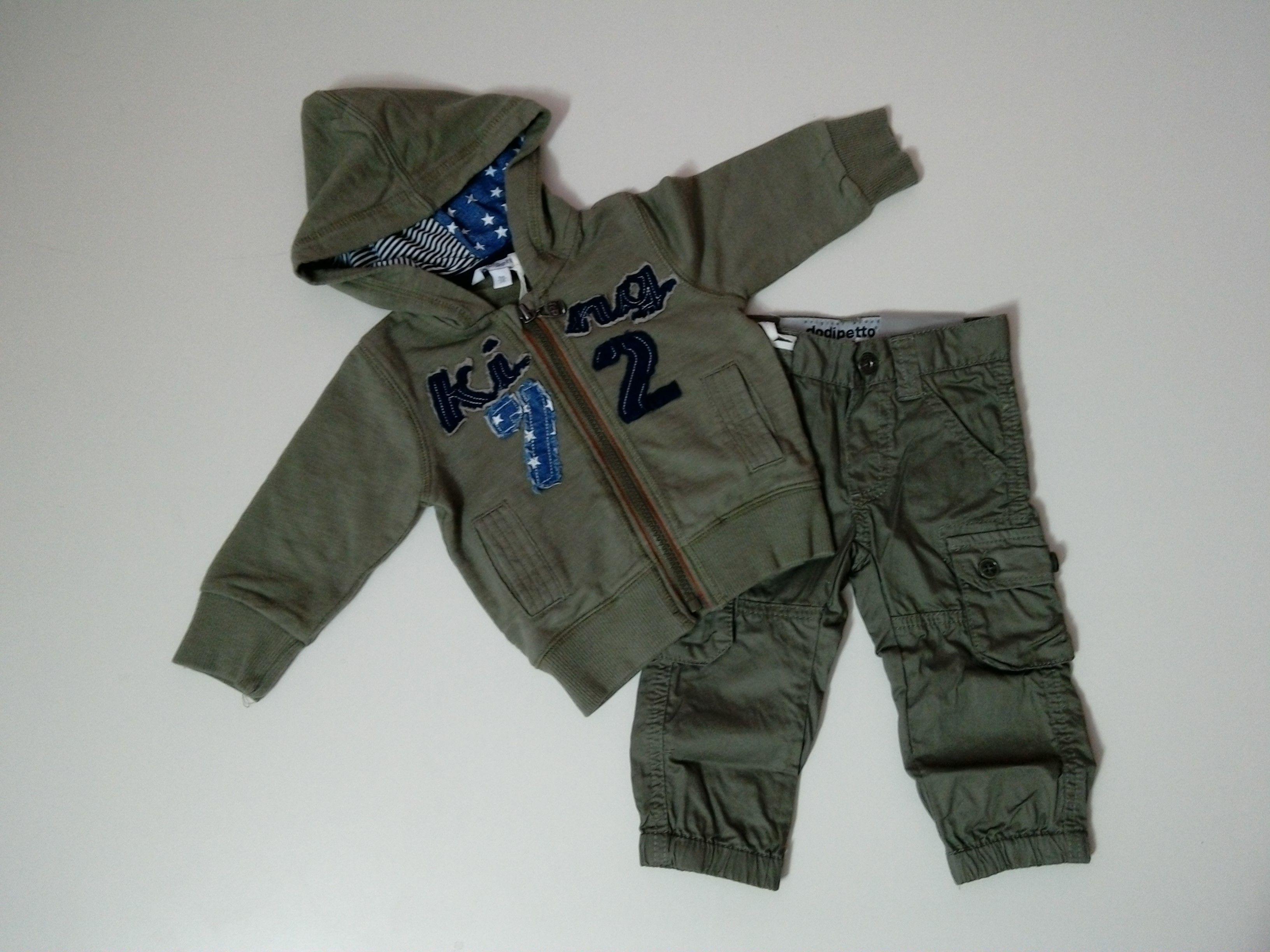 promo code 9df65 4fba4 completo neonato felpa con zip e cappuccio pantalone largo ...