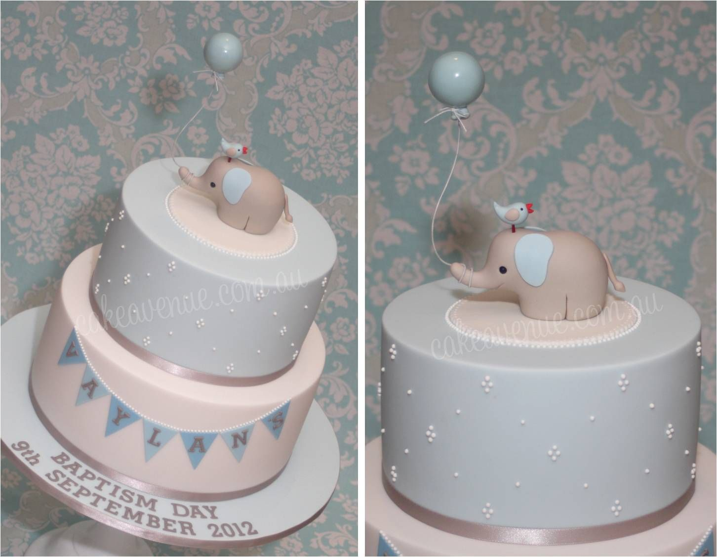 Baby Elephant Cake For Boy S Christening Made By Cake