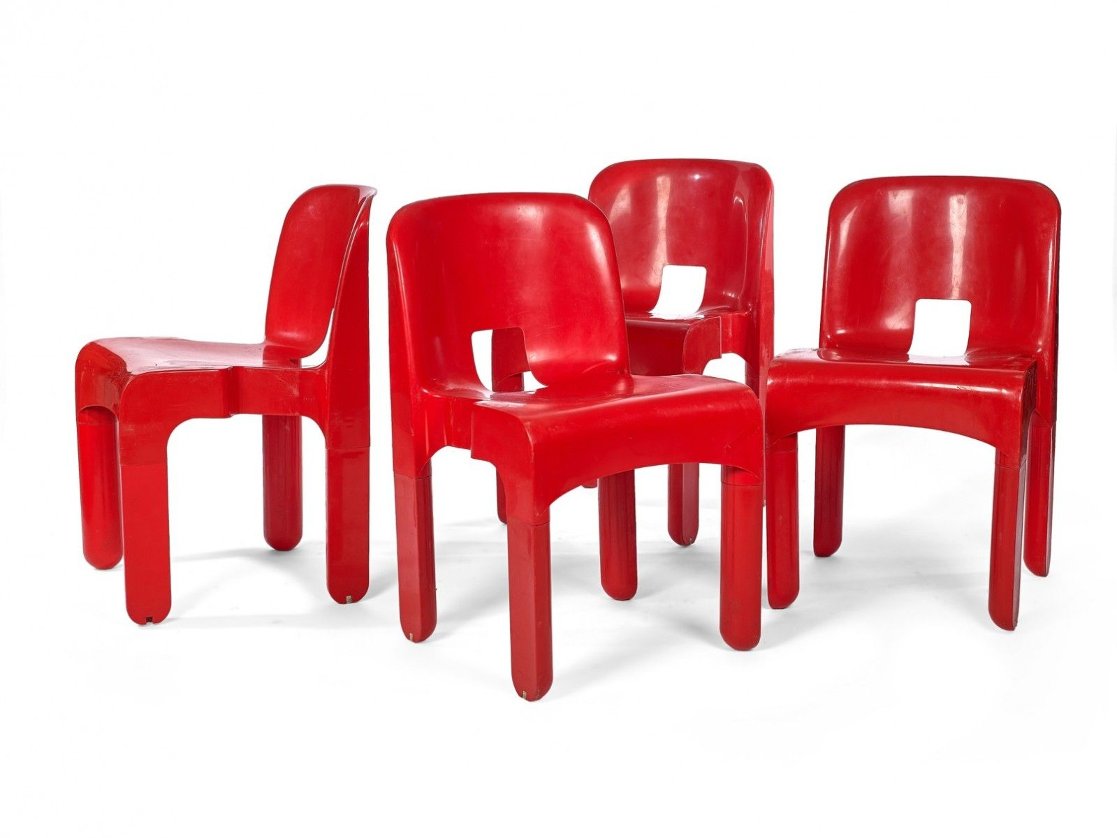 Model 4867 Red Chairs By Joe Colombo For Kartell Set Of 4 2  # Muebles Postmodernos
