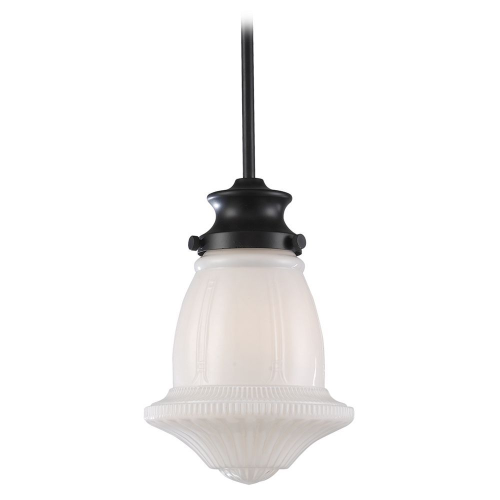 Schoolhouse mini pendant light with white glass mini pendant landmark lighting inc schoolhouse pendant 69039 1 110 destinationlighting arubaitofo Image collections