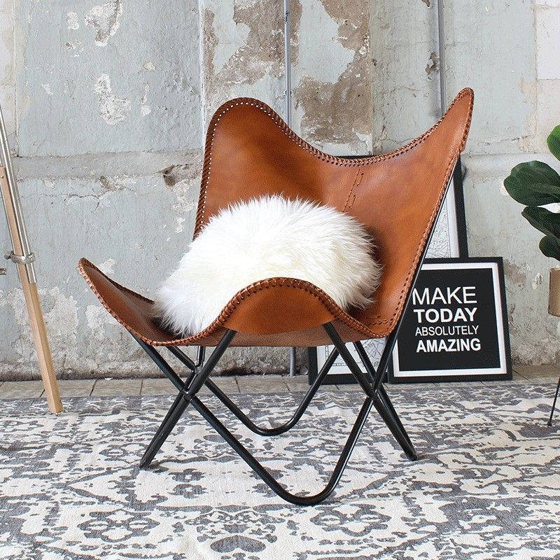 Butterfly Chair Spirit Cognac Leder In 2020 Lederstuhle