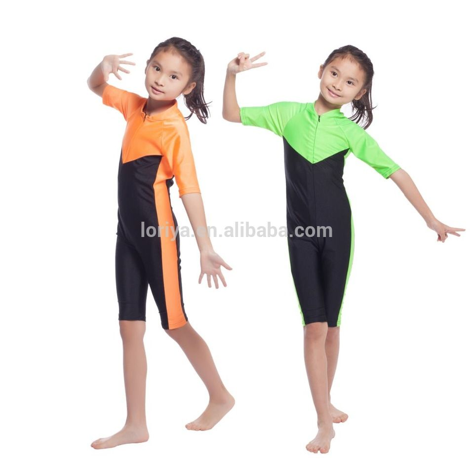 d3594754d7a86 Muslim swimming suit for kids 6-12 years young girls swimwear ...