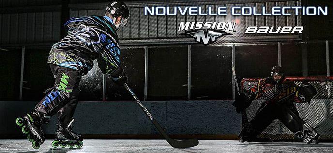 Nouvelle Collection Roller Hockey Bauer/Mission est maintenant disponible en France !!!