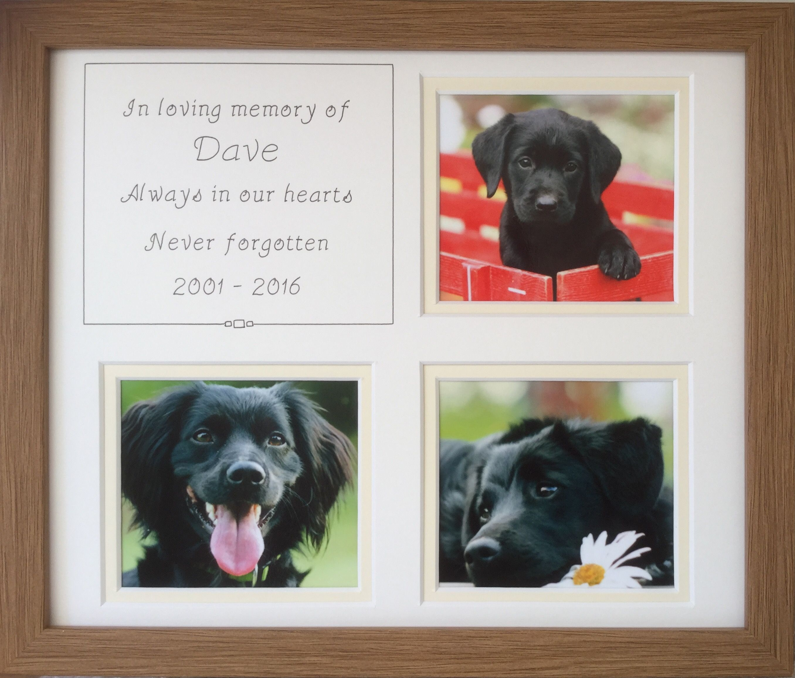 Personalised Pet \'In Loving Memory\' Oak Frame | Personalised Pet ...