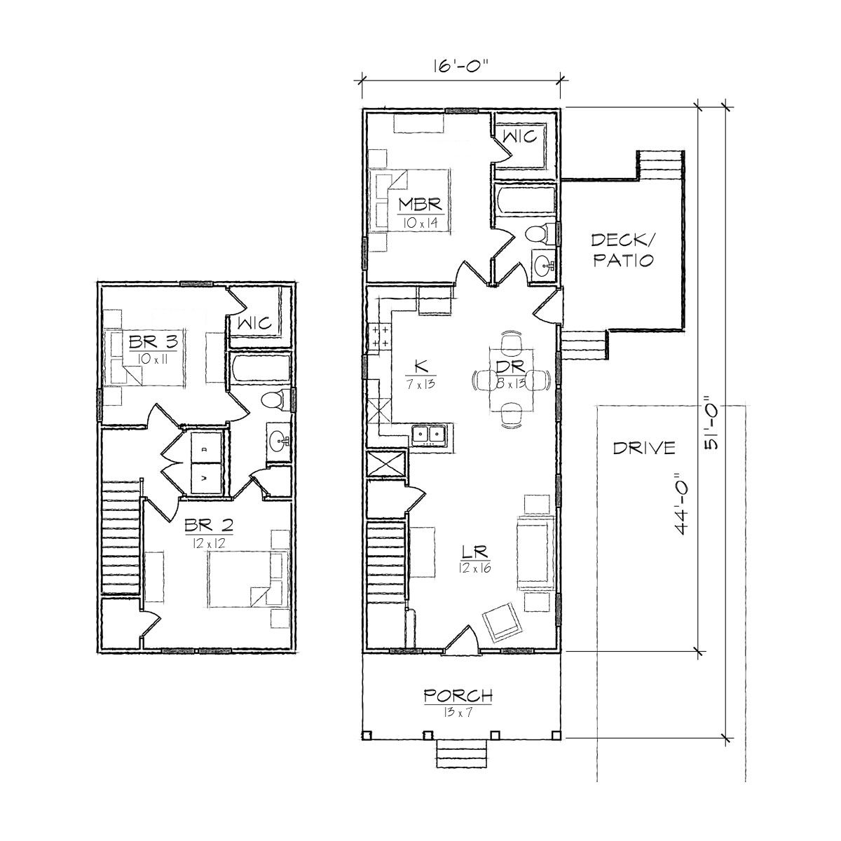 House plans for narrow corner lots for Narrow corner lot house plans