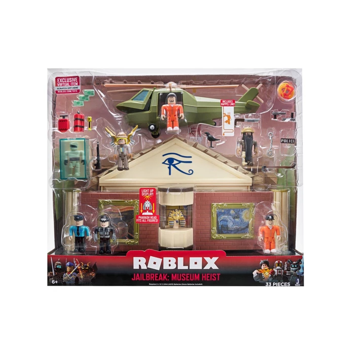 Roblox Jailbreak Great Escape Playset Ebay Roblox Action Collection Jailbreak Museum Heist Deluxe Playset With Exclusive Virtual Item In 2020 Playset Roblox Lego Library