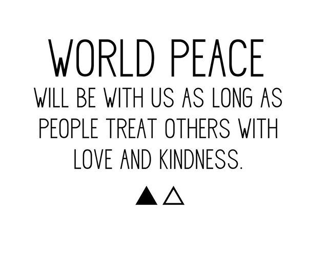 World Peace Quotes Reposting Luzylouizstore World Peace Is In Our Hand .