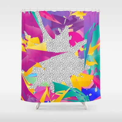 80s Abstract Shower Curtain By Danny Ivan 68 00 Founde