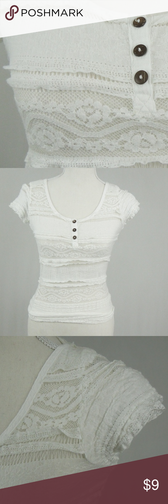 0991d533909d7 Blanc du Nil White Sheer Lace Top Blanc du Nil (The all-white clothing