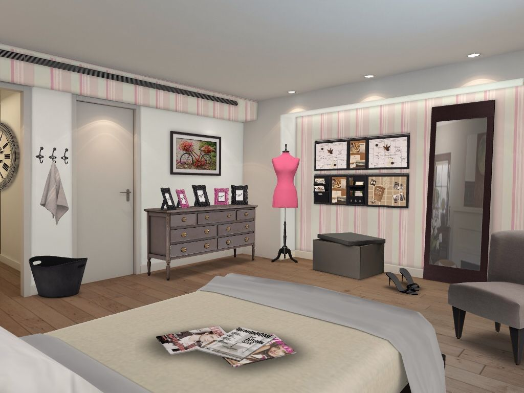 Pink Bedroom http://www.homestyler.com/designstream/redirector?id=23fa6cd1-0760-4090-b9dd-299617b9c2d1_type_1&track=ios_share