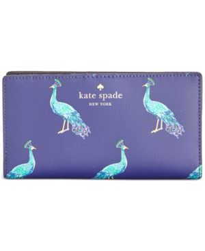 kate spade new york Harding Street Peacock Stacy Wallet - Blue