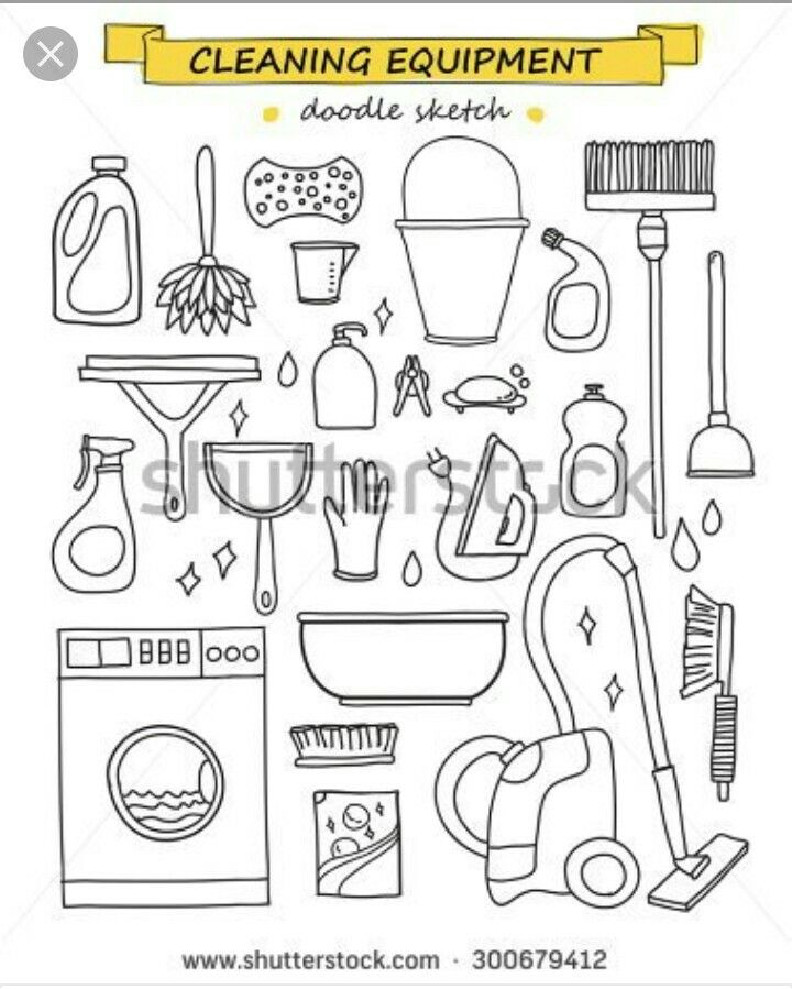 Pin By Melissa Dowling On Doodles Doodles Cleaning Drawing