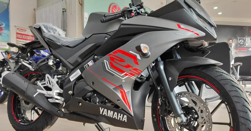 Thunder Grey Bs6 Yamaha R15 V3 Walkaround Video By Mrd Vlogs In