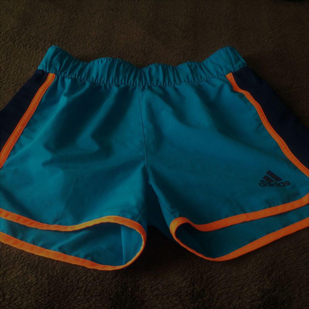 New adidas Girls Blue Orange Navy Athletic Soccer Gym Running Shorts Size L  14  adidas  Everyday d583bd6e2e