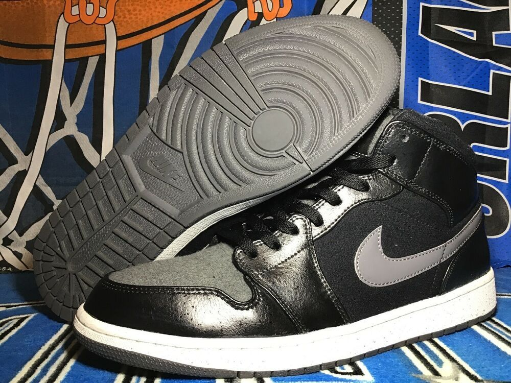 sale retailer 53729 89b0a Nike Air Jordan 1 Mid Premium Shadow Black Size  12 Style  852542 001