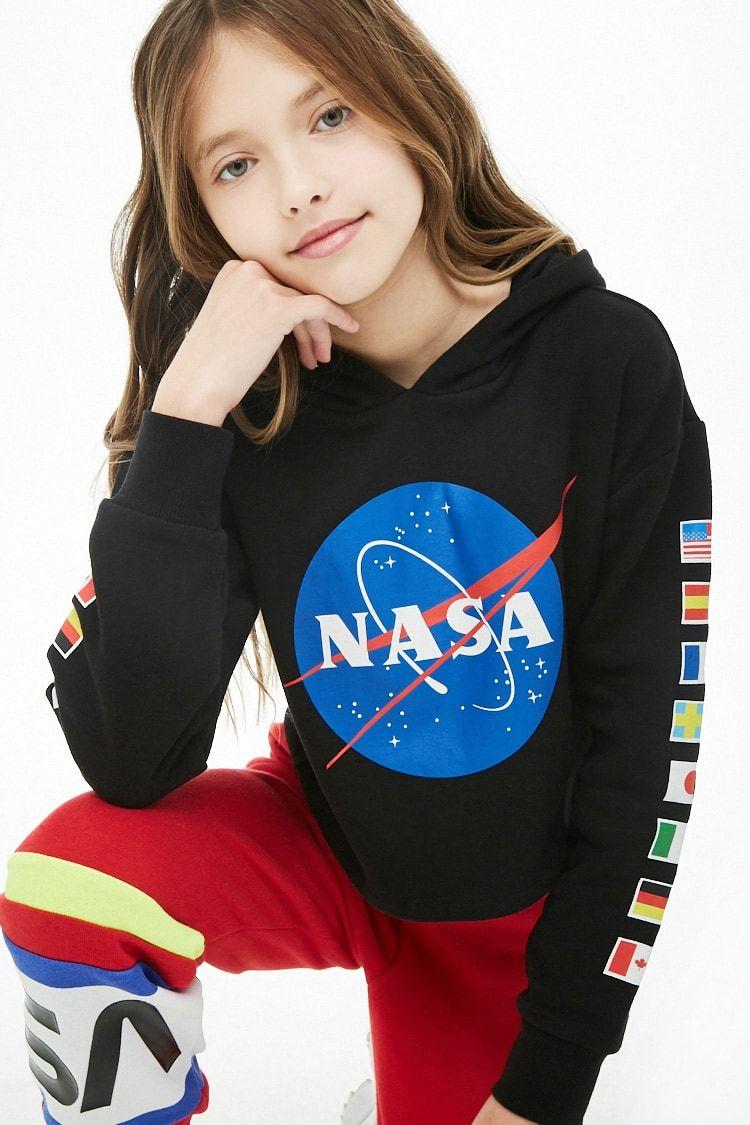 Girls Nasa Hoodie Kids Nasa Hoodie Forever 21 Outfits Kids Outfits [ 1125 x 750 Pixel ]