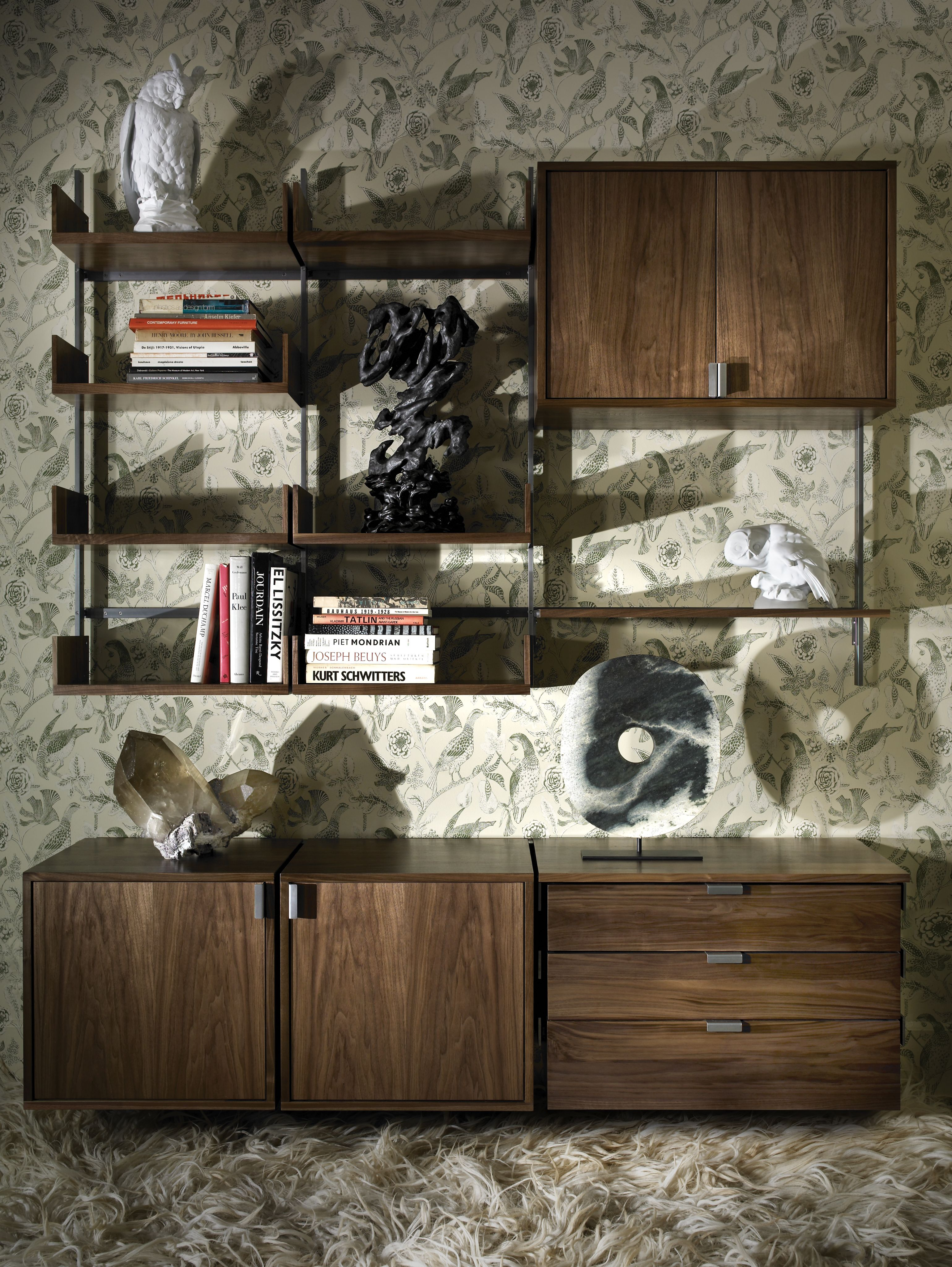 as4 modular furniture system show in walnut and cold-rolled steel ...