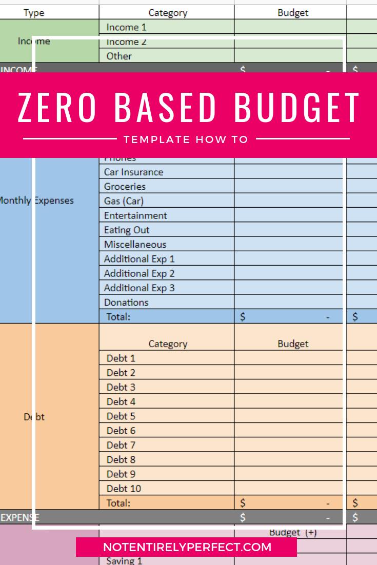 Zero Based Budget Template Walk Through Not Entirely Perfect Budget Template Budgeting Templates [ 1102 x 735 Pixel ]