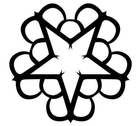 Black Veil Brides logo pentacharm.. Five BVB's, five members..