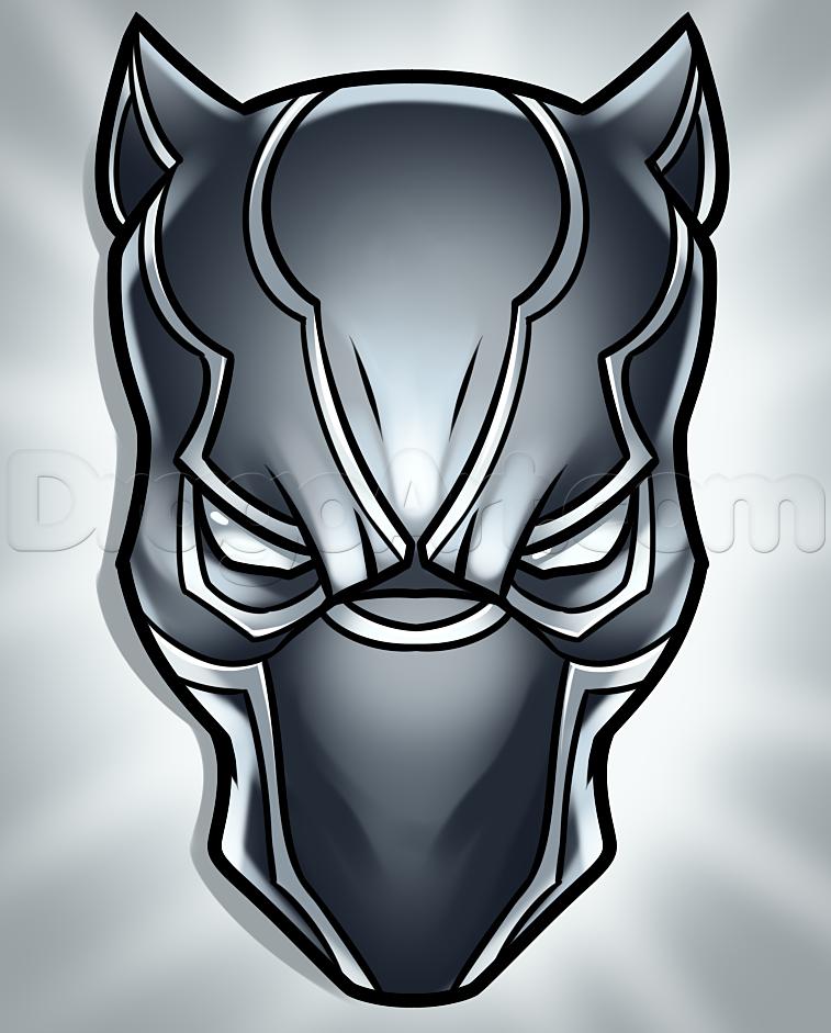 Easy Black Panther Drawing : black, panther, drawing, Black, Panther, Drawing,, Widow, Drawing