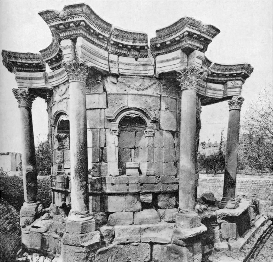Remain of the temple of Venus at Baalbek This is a baroque
