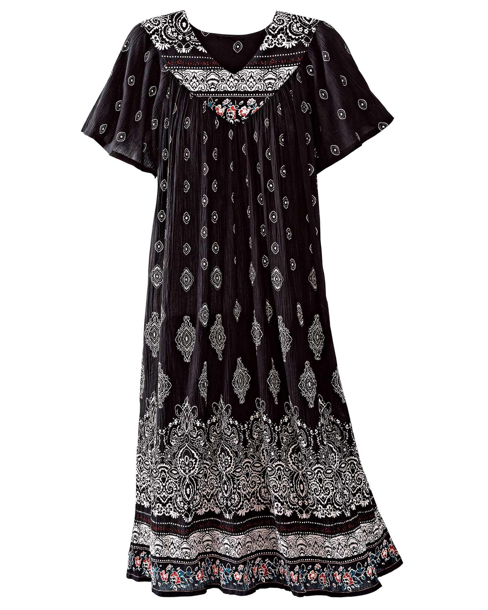 b8579425c19 Border Print Crinkle Dress