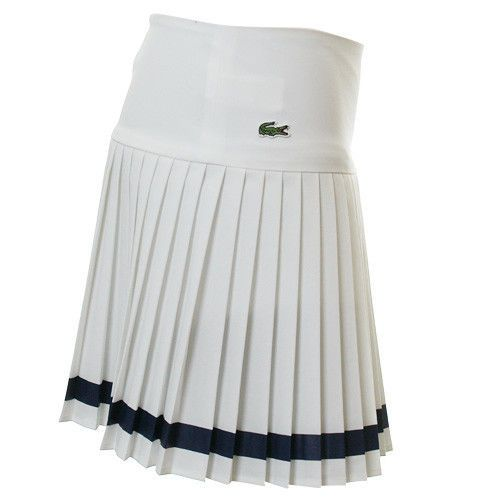 188775c3daaee AUTHENTIC LACOSTE WOMANS TENNIS SKIRT IN WHITE (JF8524 51) Tenis