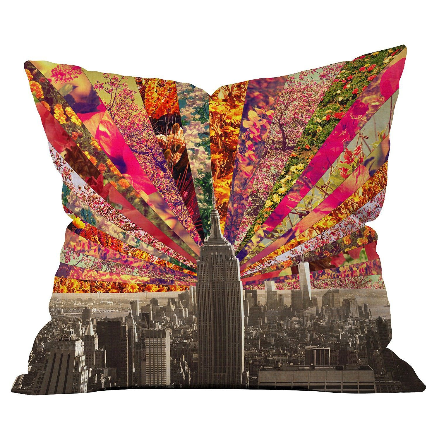 DENY Designs Blooming NY Throw Pillow : Target