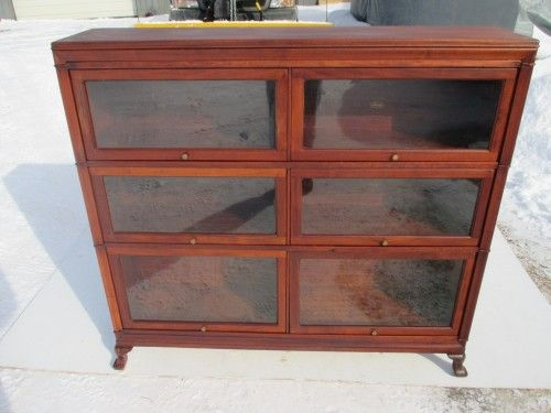 Antique Double Wide Macey C 1915 Mahogany Barrister Bookcase 1275 00