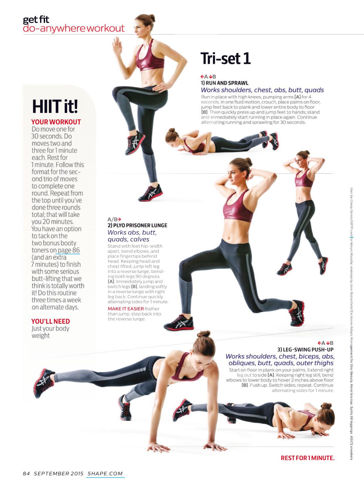 Pin By Lilly H On Get Fit Workout Get Fit Bodyweight Workout