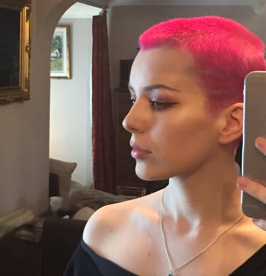 Lilith Ink On Instagram So I Dyed My Hair Pink And Convinced My Mum To Do It Too We Now Look Like Cute Shaved Hair Designs Buzzed Hair Women Dye My Hair