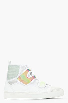 35a96ae30ba1 High Tops · Style Men · Hologram Shoes are big for Spring Summer 2013 on  the runway. Raf Simons White