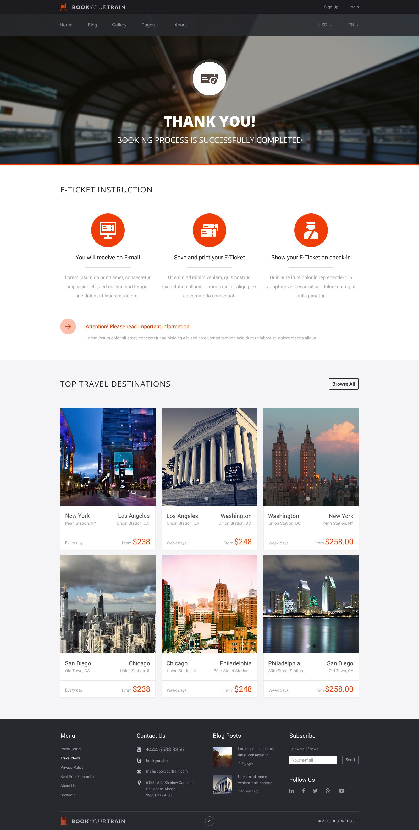 Book Your Train Online Booking Psd Template Online Training Psd Templates Environmental Design Illustration