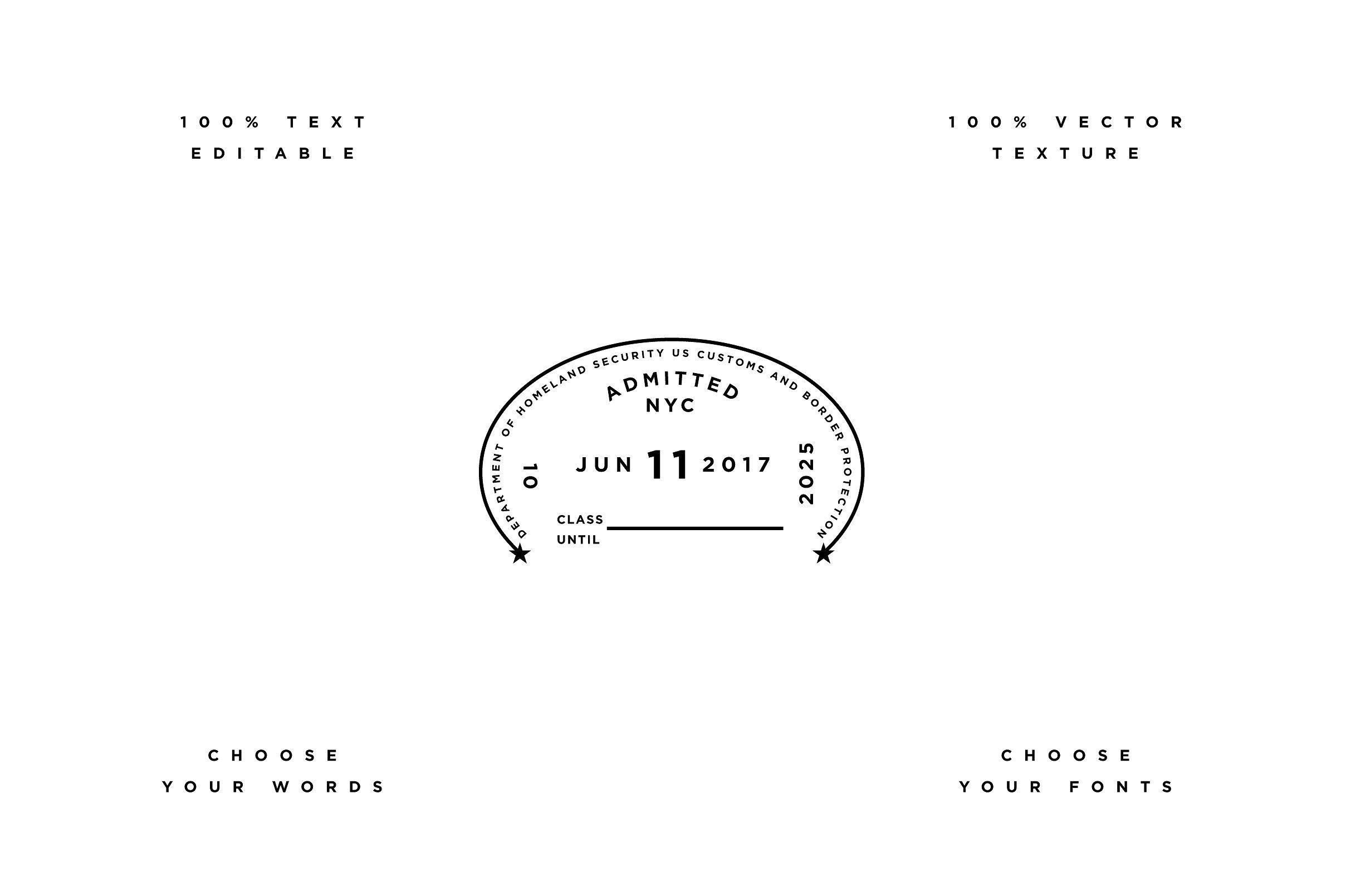 Passport Template Editable Texture Text Crafted Passport