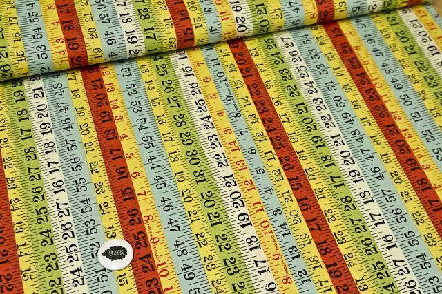 Algodón 100�ndo multicolorEstampado negro50x110 cmPara medidas mayores escribir a blackoveja.shoponline@gmail.com para consultar disponibilidad.(Si quieres mas de una unidad sin cortar indicanoslo en observaciones)