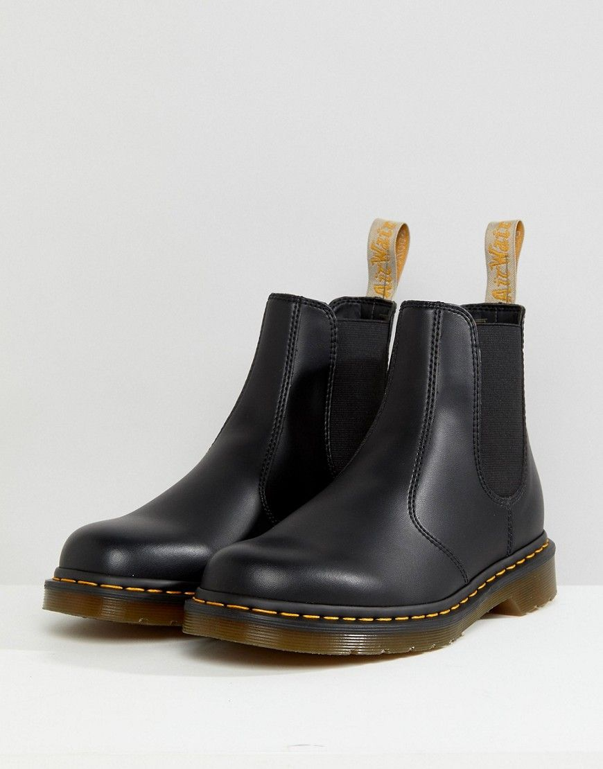 5e272b68ba3 Dr Martens vegan 2976 chelsea boots in black smooth in 2019 ...