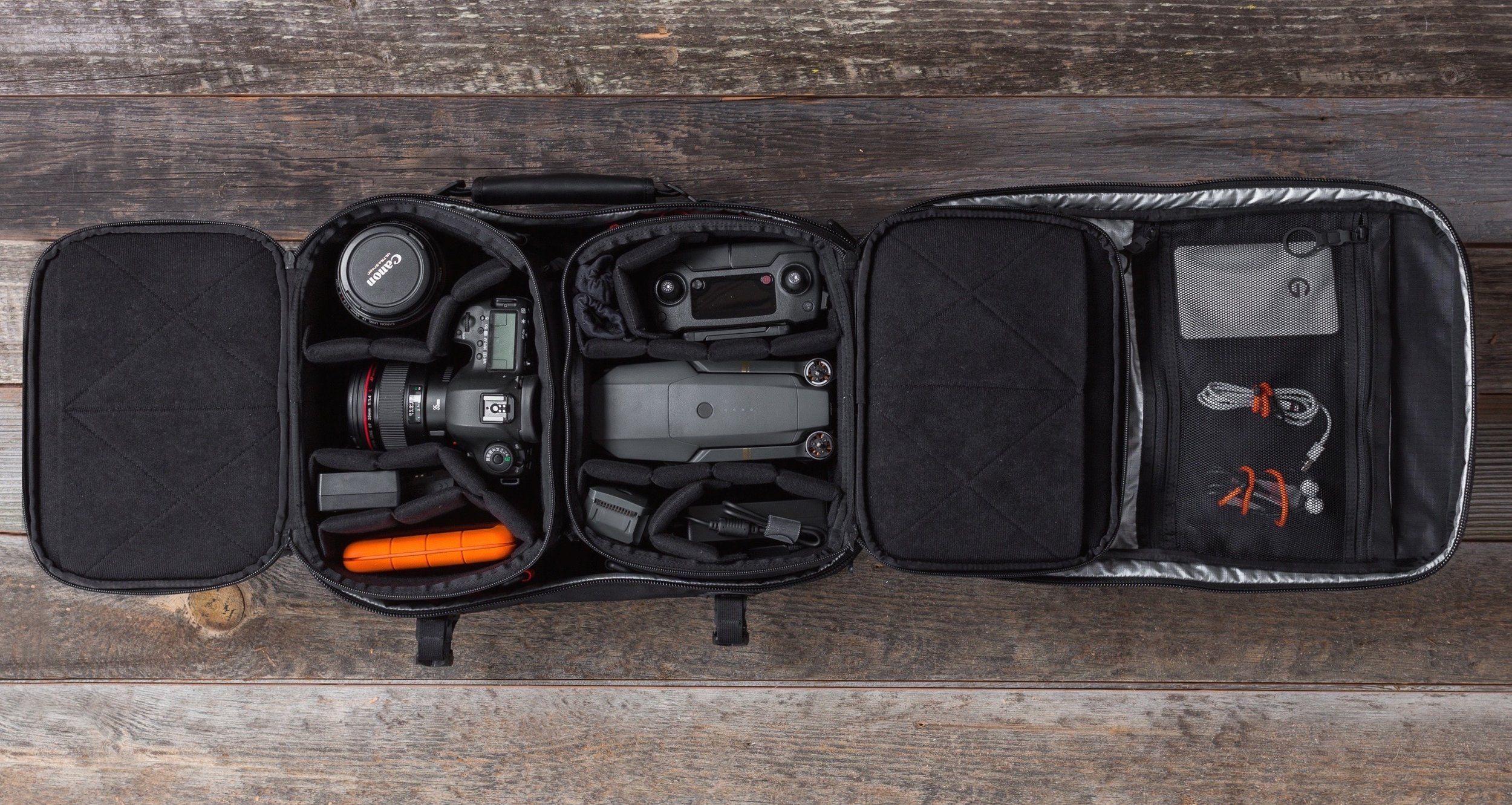 COMPLETE DSLR + DRONE RIG Camera Backpack