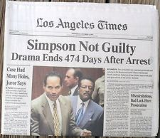 Newspaper headline, Simpson Not Guilty - Google Search ... Oj Simpson Not Guilty 1995