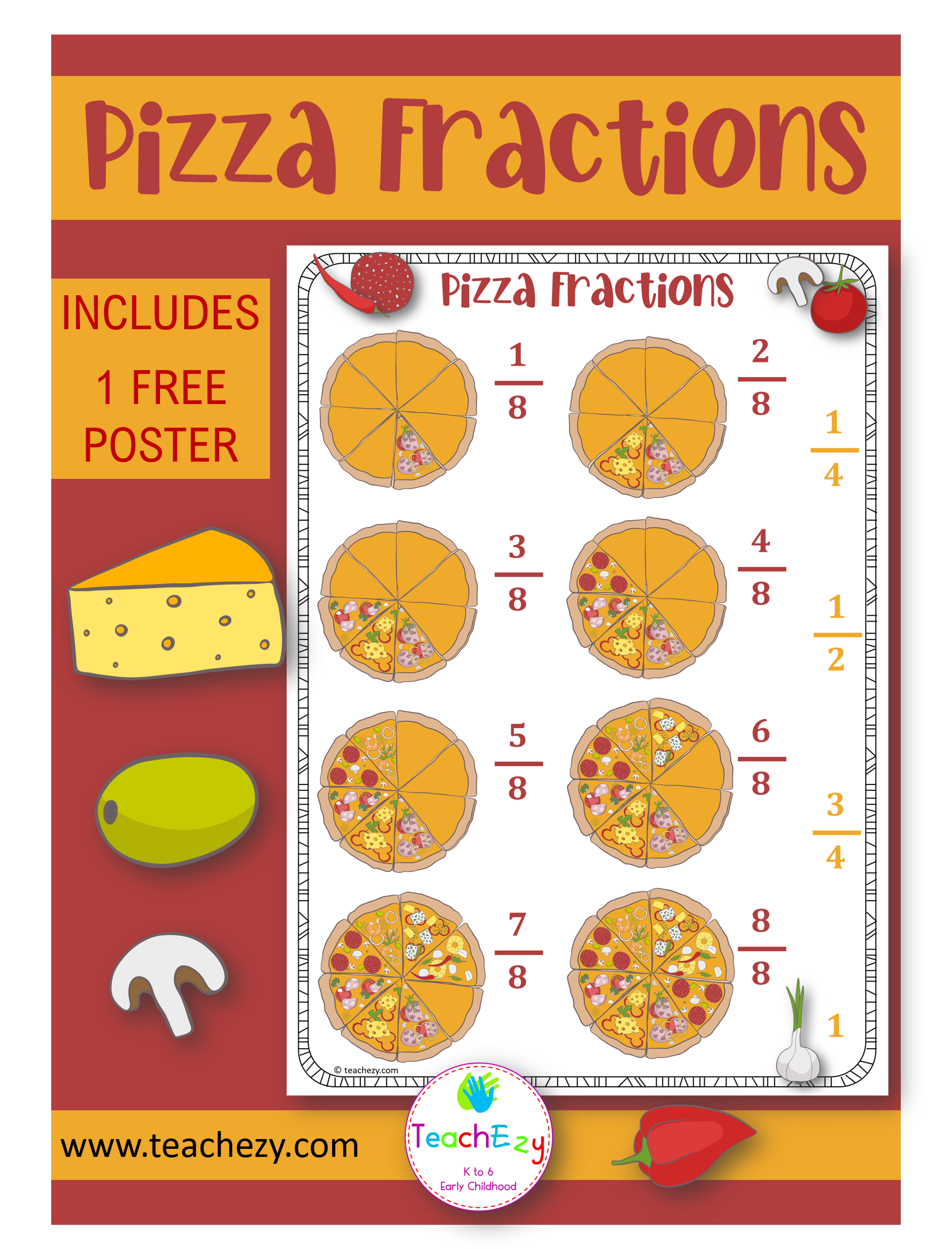 Free Classroom Fractions Poster Find At S Teachezy