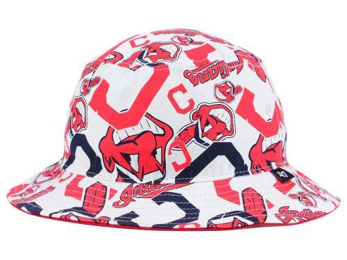 Cleveland Indians 47 Brand MLB Bravado Bucket Hats 1007cca208d