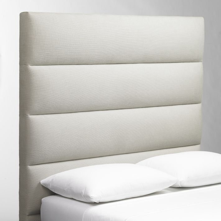 Panel-Tufted Headboard Tufted headboards, Ottoman bench and Bedrooms