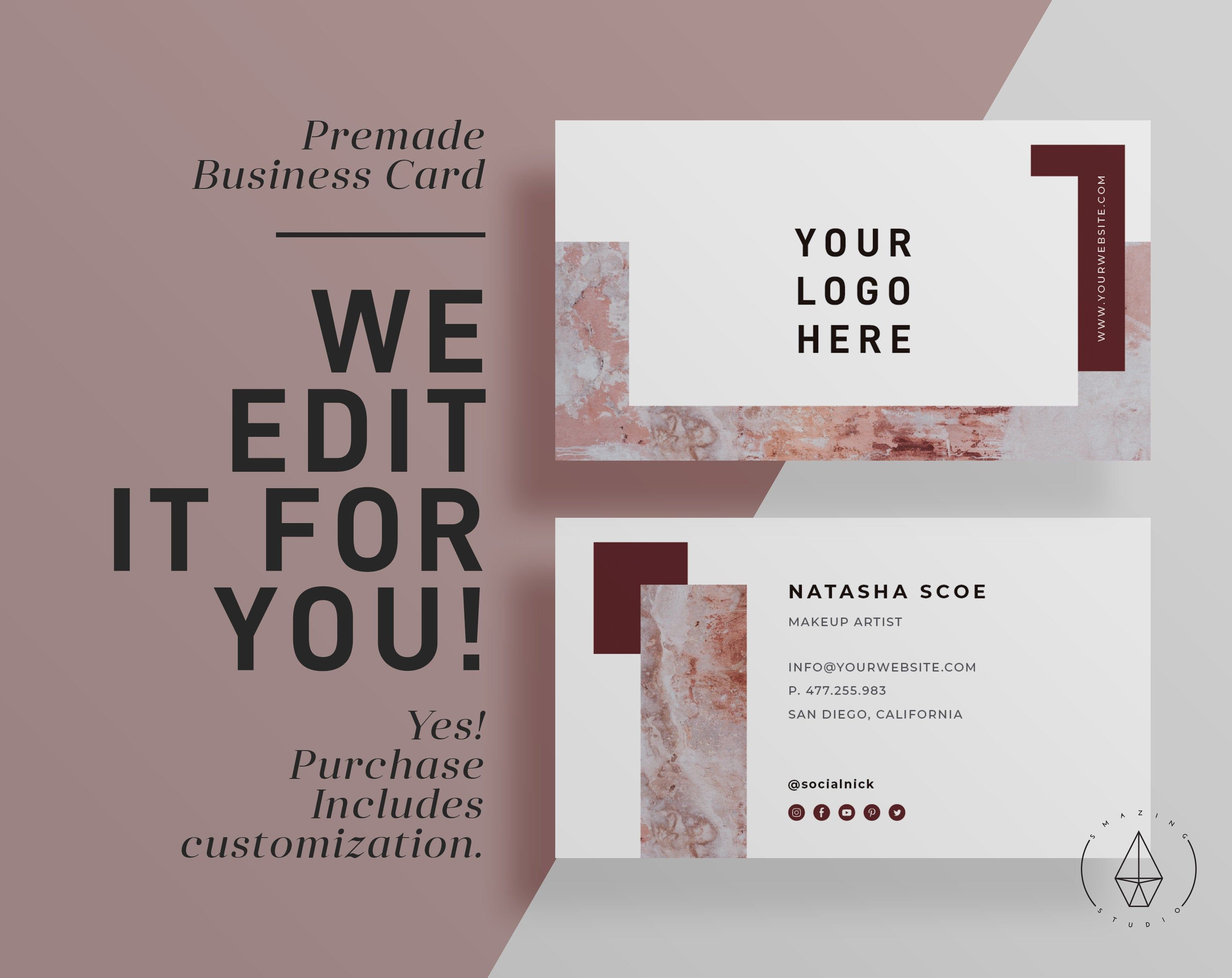 Customized Business Card Printable
