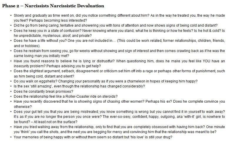 The 3 Phases of a Relationship With a Narcissist Ladywithatruck s Blog