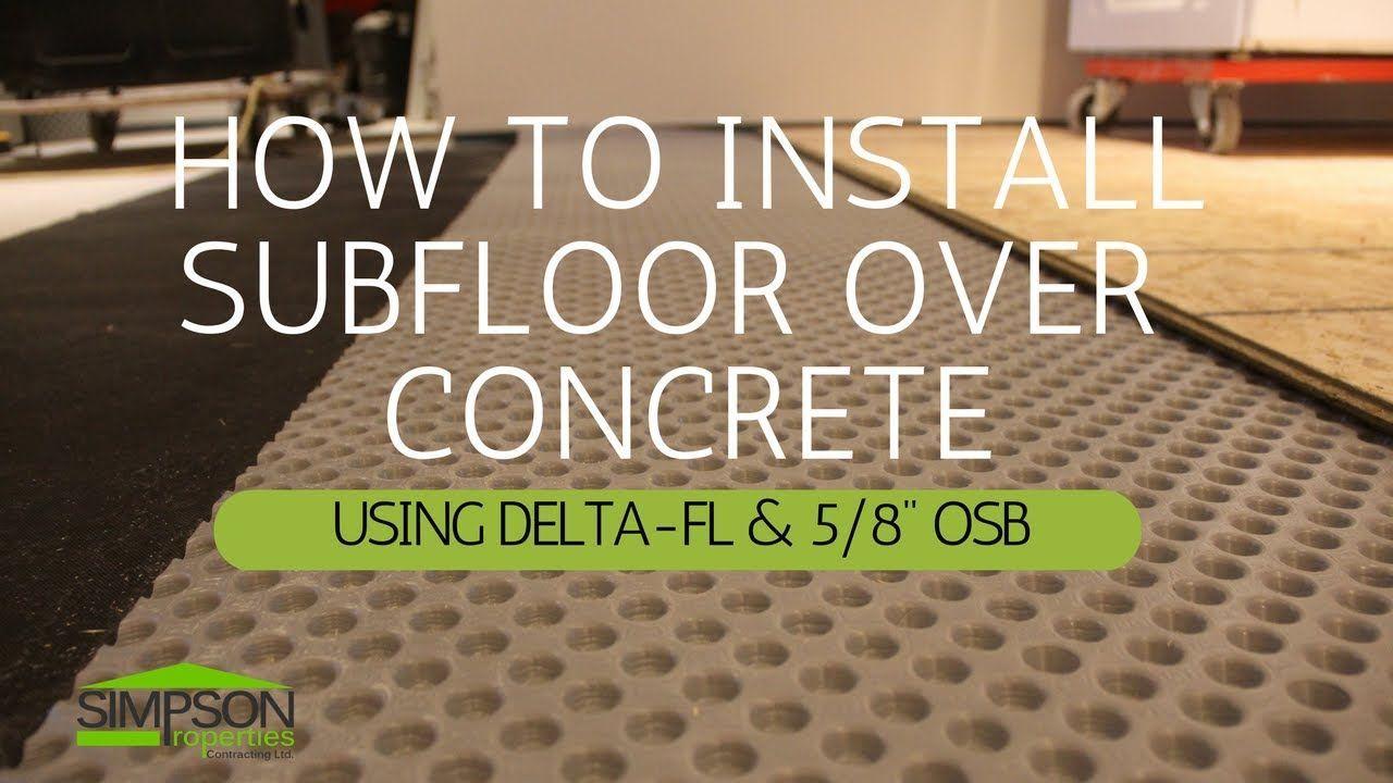 New Basement Floor Subfloor