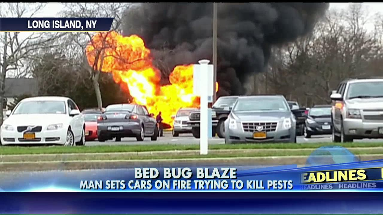 Cops Man Set Rental Car Ablaze While Trying to Kill Bed