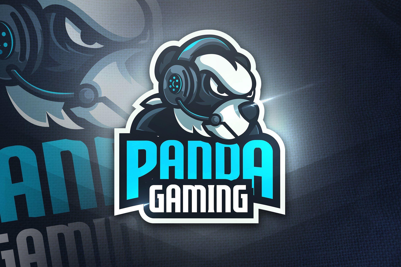 Panda Gaming Mascot & Esport Logo Desain logo, Gambar