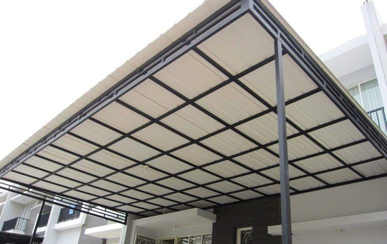 kanopi baja design rumah minimalis ringan atap upvc avantguard